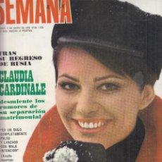 Coleccionismo de Revistas y Periódicos: REVISTA SEMANA Nº 1524 AÑO 1969. CLAUDIA CARDINALE. SARA MONTIEL. DUQUES DE MAURO. PINITO DEL ORO.. Lote 133338806