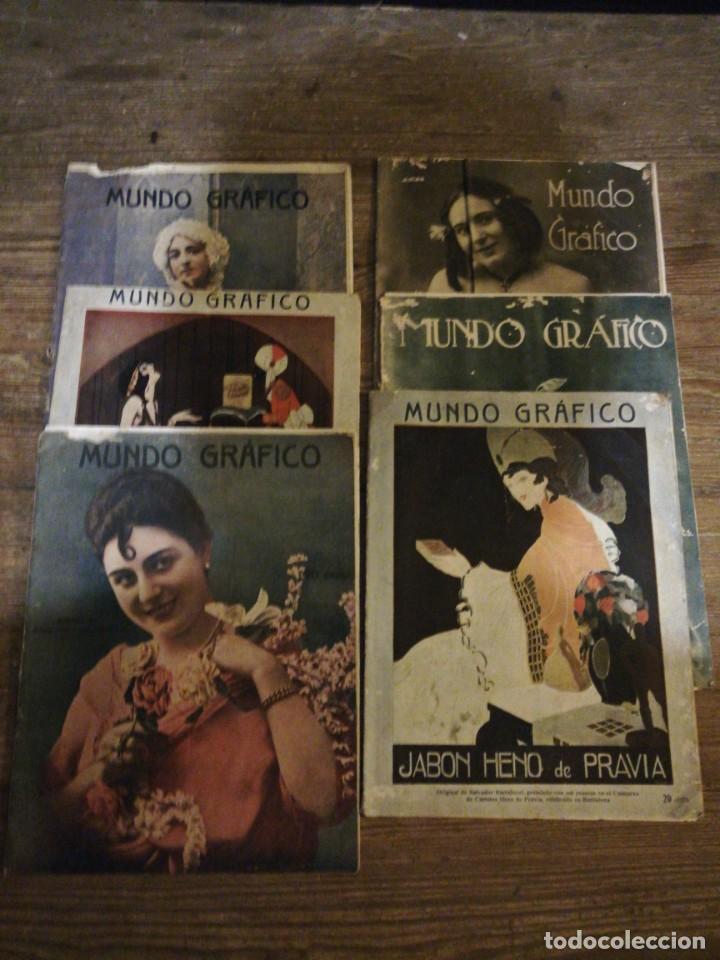 LOTE DE 6 REVISTAS MUNDO GRAFICO 1916,1923... (Coleccionismo - Revistas y Periódicos Antiguos (hasta 1.939))