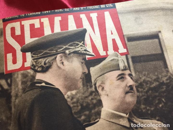 TOMO COLECCIÓN REVISTAS SEMANA AÑO 1940 (Coleccionismo - Revistas y Periódicos Modernos (a partir de 1.940) - Otros)