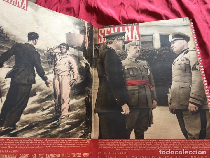 Coleccionismo de Revistas y Periódicos: Tomo colección revistas semana año 1940 - Foto 2 - 133457367