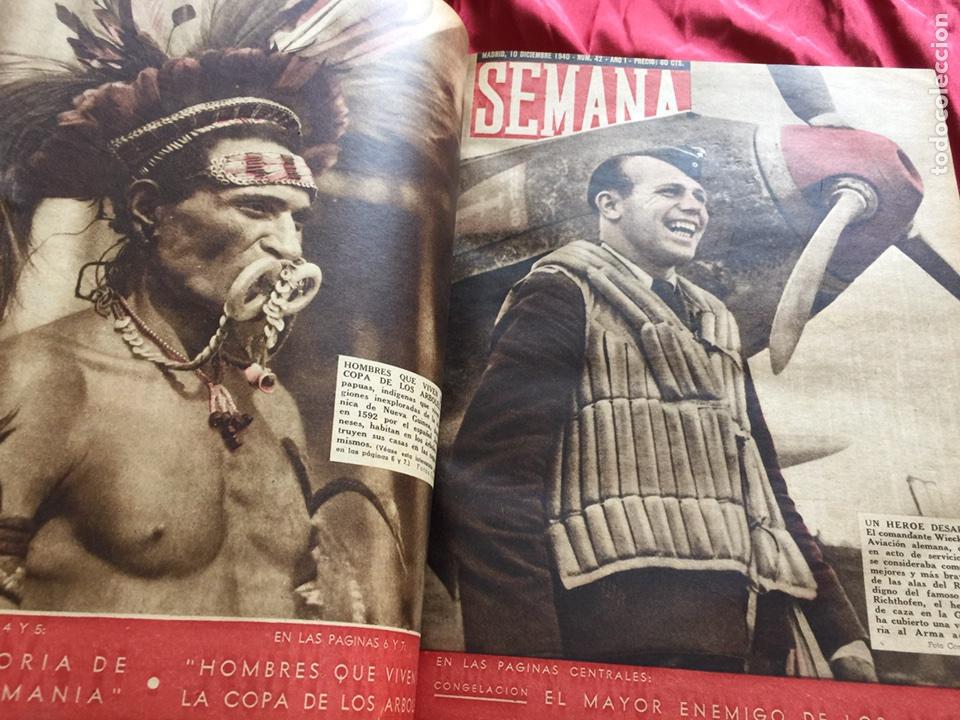 Coleccionismo de Revistas y Periódicos: Tomo colección revistas semana año 1940 - Foto 3 - 133457367