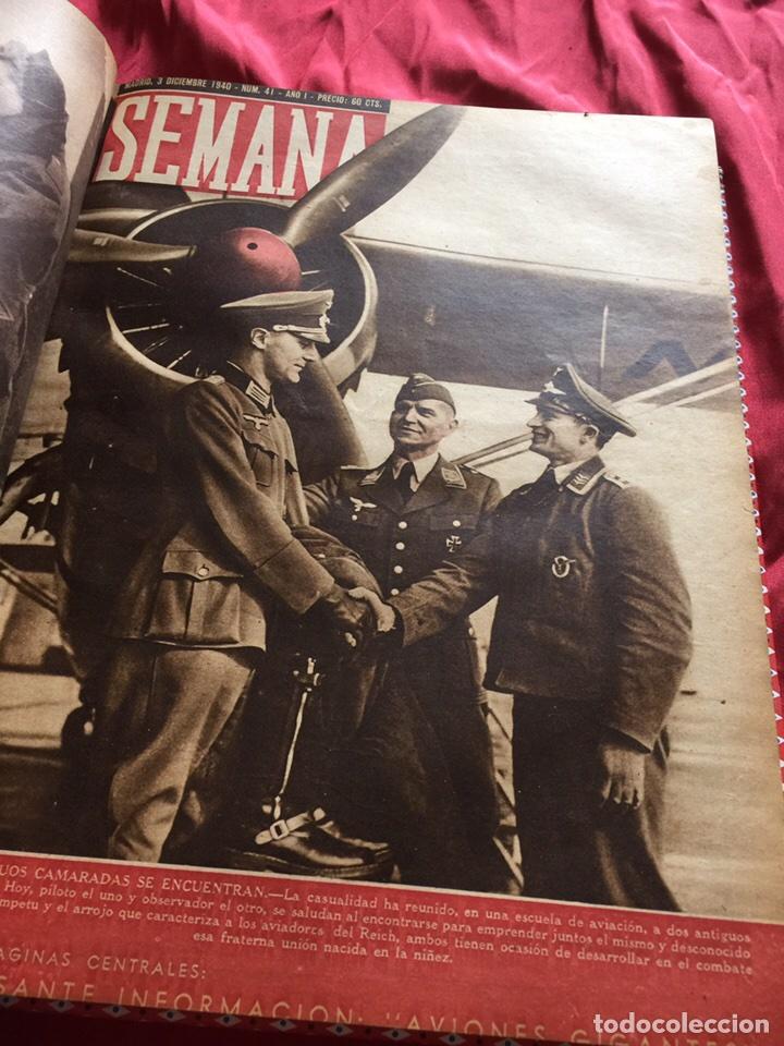 Coleccionismo de Revistas y Periódicos: Tomo colección revistas semana año 1940 - Foto 5 - 133457367