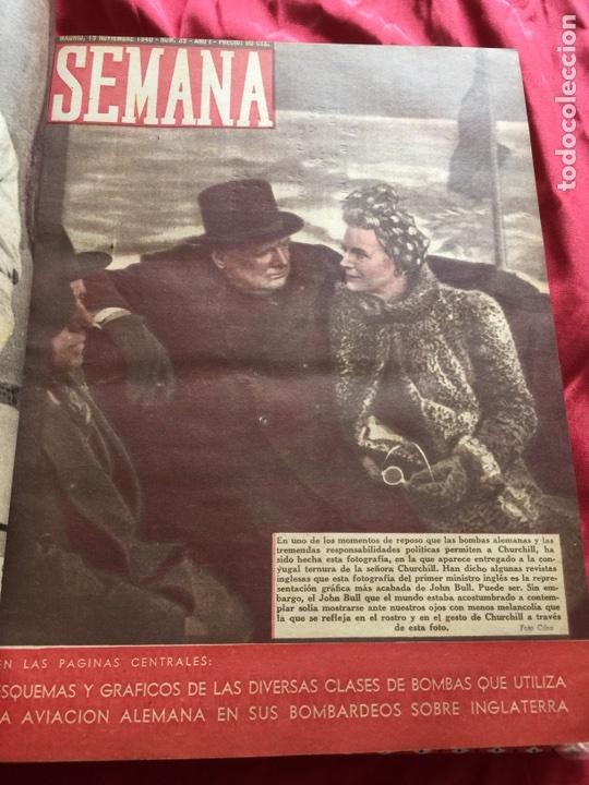 Coleccionismo de Revistas y Periódicos: Tomo colección revistas semana año 1940 - Foto 13 - 133457367