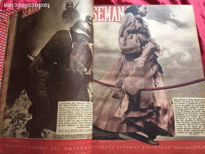 Coleccionismo de Revistas y Periódicos: Tomo colección revistas semana año 1940 - Foto 16 - 133457367