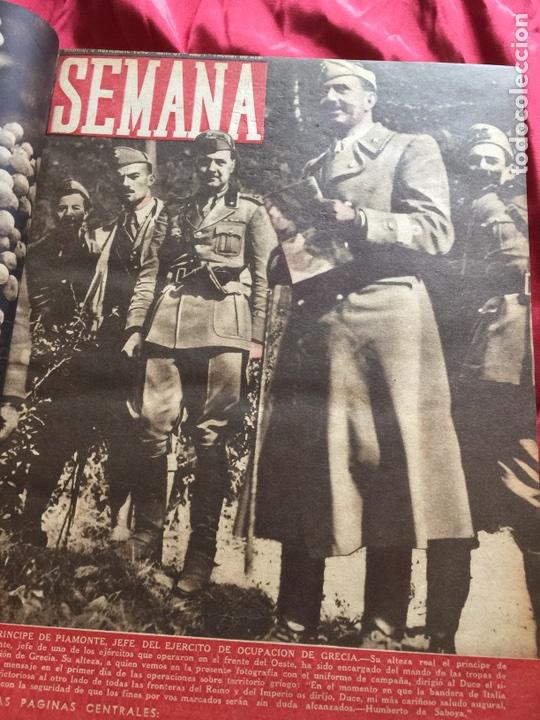 Coleccionismo de Revistas y Periódicos: Tomo colección revistas semana año 1940 - Foto 19 - 133457367