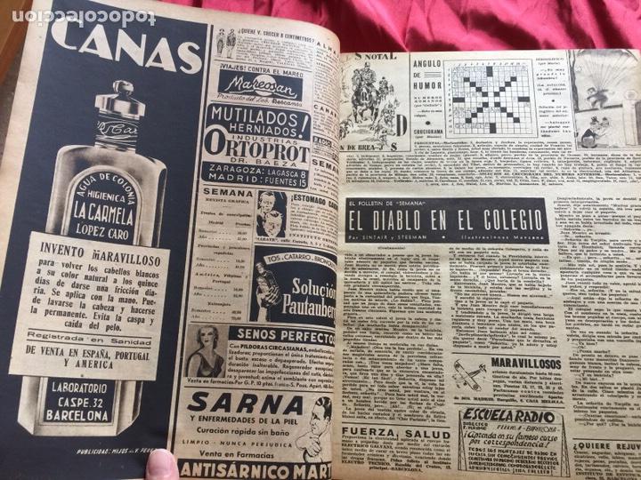 Coleccionismo de Revistas y Periódicos: Tomo colección revistas semana año 1940 - Foto 20 - 133457367