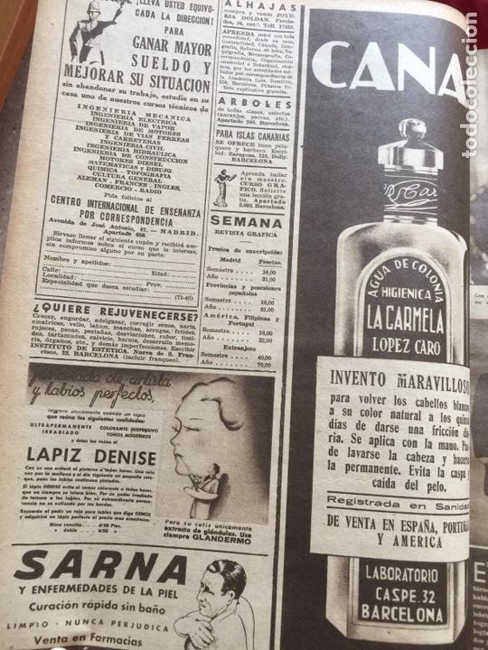 Coleccionismo de Revistas y Periódicos: Tomo colección revistas semana año 1940 - Foto 21 - 133457367