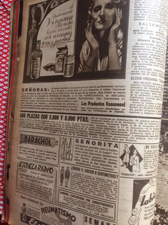 Coleccionismo de Revistas y Periódicos: Tomo colección revistas semana año 1940 - Foto 23 - 133457367