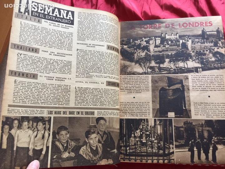 Coleccionismo de Revistas y Periódicos: Tomo colección revistas semana año 1940 - Foto 24 - 133457367