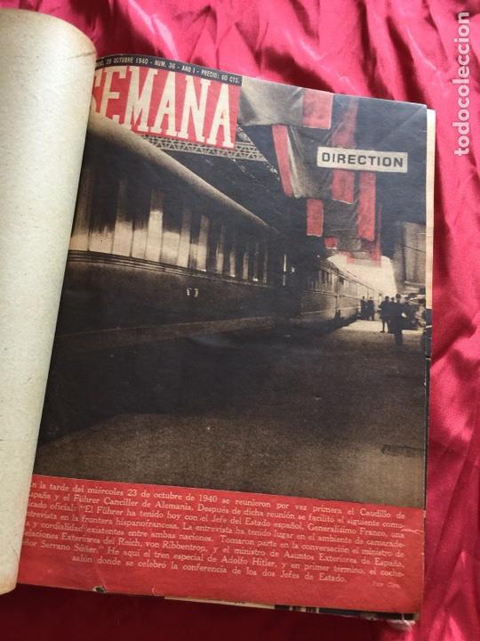 Coleccionismo de Revistas y Periódicos: Tomo colección revistas semana año 1940 - Foto 28 - 133457367
