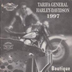 Coleccionismo de Revistas y Periódicos: REVISTA: HARLEY-DAVIDSON-ESPAÑA, 1997, TARIFA GENERAL. BOUTIQUE, ACCESORIOS.. Lote 133542426