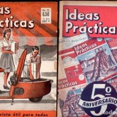 Coleccionismo de Revistas y Periódicos: DOCE NÚMEROS REVISTA IDEAS PRÁCTICAS AÑOS 1948 Y 1949. Lote 133557806
