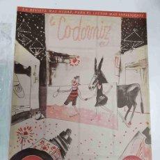 Coleccionismo de Revistas y Periódicos: REVISTA LA CODORNIZ: NUM 0976, AÑO XX, 31 DE JULIO DE 1960 - VERANO 1960. Lote 133600219