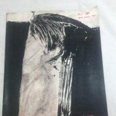 Coleccionismo de Revistas y Periódicos: CORREO DE LAS ARTES. REVISTA Nº 31. ABRIL-MAYO 1961. PORTADA DE RAFAEL CANOGAR. GALERÍA RENÉ METRAS. Lote 133604666