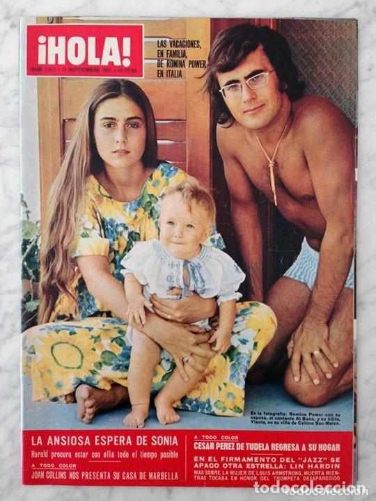 HOLA - 1971 - ROMINA POWER, JOAN COLLINS, LIL HARDIN, FARAH, CÉSAR PÉREZ DE TUDELA, JACKIE ONASSIS (Coleccionismo - Revistas y Periódicos Modernos (a partir de 1.940) - Otros)