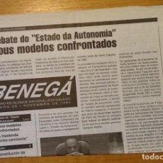 Coleccionismo de Revistas y Periódicos: BENEGA 27, MAIO 1995. VOCEIRO DO BLOQUE NACIONALISTA GALEGO. Lote 133619194