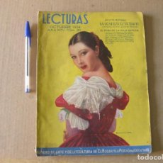 Colecionismo de Revistas e Jornais: REVISTA LECTURAS. AÑO XIV. NÚM. 161. OCTUBRE 1934.. Lote 133653062