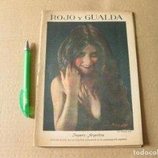Coleccionismo de Revistas y Periódicos: ROJO Y GUALDA. REVISTA EDITADA POR EL CAFE MARIA CRISTINA. MADRID. AÑO I. Nº 3. 1929.. Lote 133661466