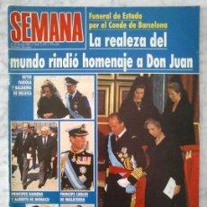 Colecionismo de Revistas e Jornais: SEMANA - 1993 - PEPA FLORES, SERGIO DALMA, SHARON STONE, AL PACINO, SOFÍA MAZAGATOS, NORMA DUVAL. Lote 49098253