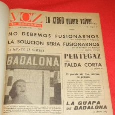 Coleccionismo de Revistas y Periódicos: LA VOZ DE BADALONA 1957-1958 - NÚMEROS 1 AL 52 EN UN VOLUMEN. Lote 133732542