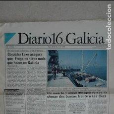Coleccionismo de Revistas y Periódicos: DIARIO 16 GALICIA AÑO 1 NUMERO 1. Lote 132966434