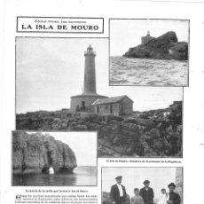 Collectionnisme de Revues et Journaux: 1909 HOJA REVISTA SANTANDER ISLA DE MOURO FARO PENÍNSULA DE LA MAGDALENA TORREROS FAREROS. Lote 133765446