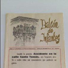 Coleccionismo de Revistas y Periódicos: CIRCULAR INFORMATIVA Nº 34. BALCON DE INFANTES. 15/5/1976. VILLANUEVA DE LOS INFANTES. CIUDAD REAL. Lote 133825234