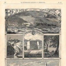 Coleccionismo de Revistas y Periódicos: LA ILUSTRACIÓN ESPAÑOLA Y AMERICANA GUERRA CARLISTA 1874 (22 ABR) VIZCAYA, BERMEO, BARCELONA. Lote 133861482