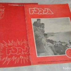 Coleccionismo de Revistas y Periódicos: LOTE DE 2 ANTIGUAS REVISTAS - REVISTA FORJA - AÑOS 40 / 50 - ENVÍO 24H. Lote 133912946