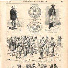 Coleccionismo de Revistas y Periódicos: LA ILUSTRACIÓN ESPAÑOLA Y AMERICANA GUERRA CARLISTA 1874 (15 ABR) VIZCAYA, TROPAS, NOYA CORUÑA. Lote 133961174