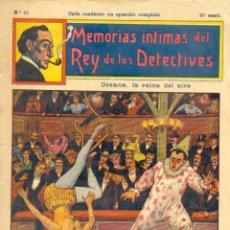 Coleccionismo de Revistas y Periódicos: MEMORIAS ÍNTIMAS DEL REY DE LOS DETECTIVES. N. 21. Lote 134018146