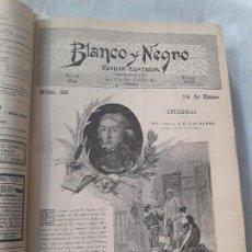 Coleccionismo de Revistas y Periódicos: REVISTA BLANCO Y NEGRO,AÑO II 1892,DEL Nº 35(ENERO) AL 86(DICIEMBRE), PERFECTAMENTE ENCUADERNADO.. Lote 134022010
