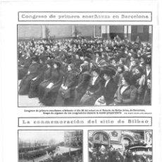 Coleccionismo de Revistas y Periódicos: 1909 HOJA REVISTA VIZCAYA CONMEMORACIÓN SITIO DE BILBAO AYUNTAMIENTO REGIMIENTO GARELLANO ALCALDE . Lote 134083418