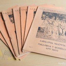 Coleccionismo de Revistas y Periódicos: LA ILUSTRACIÓ LLEVANTINA - 7 EXEMPLARS - ANY I - 1900. Lote 134195830