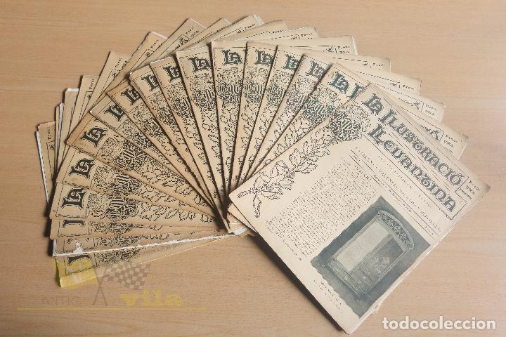 LA ILUSTRACIÓ LLEVANTINA - 18 EXEMPLARS - 1900 - 1901 (Coleccionismo - Revistas y Periódicos Antiguos (hasta 1.939))