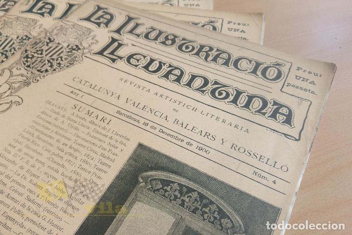 Coleccionismo de Revistas y Periódicos: La Ilustració Llevantina - 18 exemplars - 1900 - 1901 - Foto 3 - 134196358