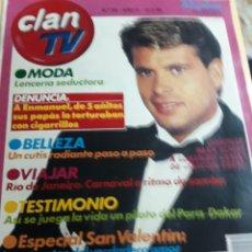 Coleccionismo de Revistas y Periódicos: REVISTA 2/1988 CLAN.- MODA LENCERIA, BELLEZA,SALUD ESPECIAL S. VALENTIN. Lote 134267159