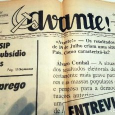 Coleccionismo de Revistas y Periódicos - Avante, periódico comunista portugués (1987) Orgao Central do Partido Comunista Portugués - 134278242
