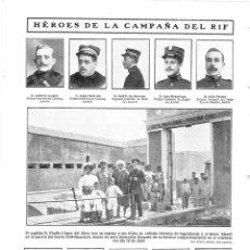 Coleccionismo de Revistas y Periódicos: 1909 HOJA REVISTA MARRUECOS MELILLA GUERRA RIF HÉROES MUERTOS Y HERIDOS FUERTE PURÍSIMA CONCEPCIÓN. Lote 134292846