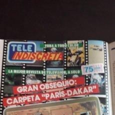 Coleccionismo de Revistas y Periódicos: ANUNCIO TELEINDISCRETA LA CARPETA DEL PARIS DAKAR. Lote 134345070