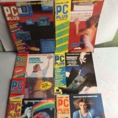 Coleccionismo de Revistas y Periódicos: REVISTA - PC PLUS - LOTE DE 7 EJEMPLARES REVISTA DE INFORMÁTICA AÑOS 80. Lote 134433506