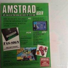Coleccionismo de Revistas y Periódicos: REVISTA AMSTRAD USER Nº 41 REVISTA DE INFORMÁTICA - AÑOS 80. Lote 294956228