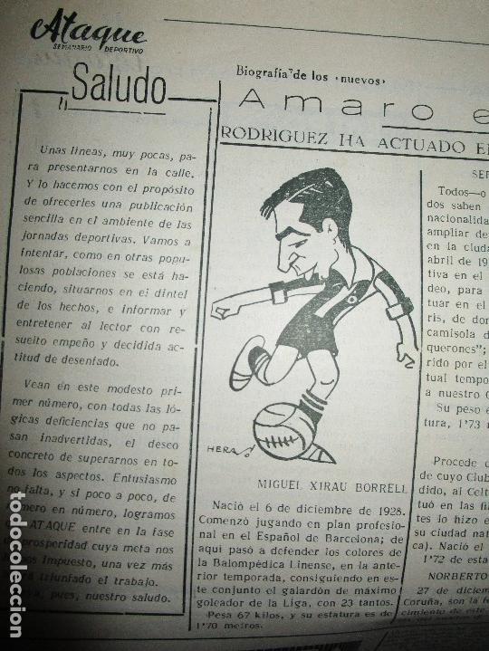 Coleccionismo de Revistas y Periódicos: ATAQUE 1957 3 RAROS PERIODICOS antiguos FUTBOL HERCULES DE alicante DEPORTIVO Nº 1 - 2- 7.- - Foto 13 - 48632104