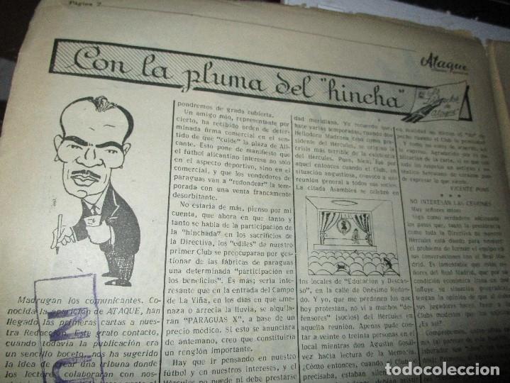Coleccionismo de Revistas y Periódicos: ATAQUE 1957 3 RAROS PERIODICOS antiguos FUTBOL HERCULES DE alicante DEPORTIVO Nº 1 - 2- 7.- - Foto 12 - 48632104