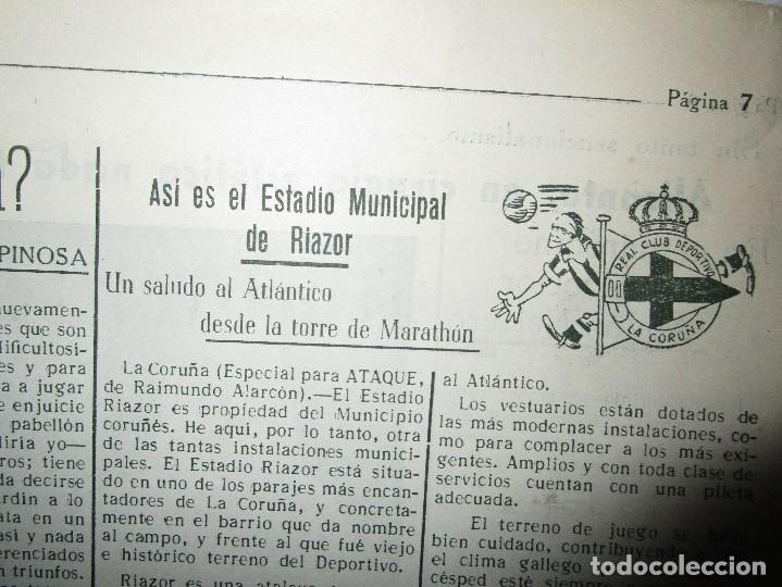 Coleccionismo de Revistas y Periódicos: ATAQUE 1957 3 RAROS PERIODICOS antiguos FUTBOL HERCULES DE alicante DEPORTIVO Nº 1 - 2- 7.- - Foto 16 - 48632104