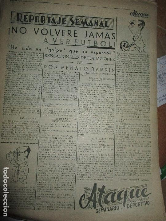 Coleccionismo de Revistas y Periódicos: ATAQUE 1957 3 RAROS PERIODICOS antiguos FUTBOL HERCULES DE alicante DEPORTIVO Nº 1 - 2- 7.- - Foto 23 - 48632104