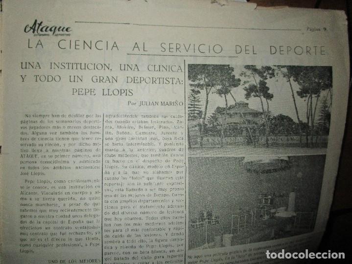 Coleccionismo de Revistas y Periódicos: ATAQUE 1957 3 RAROS PERIODICOS antiguos FUTBOL HERCULES DE alicante DEPORTIVO Nº 1 - 2- 7.- - Foto 25 - 48632104