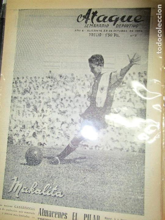 Coleccionismo de Revistas y Periódicos: ATAQUE 1957 3 RAROS PERIODICOS antiguos FUTBOL HERCULES DE alicante DEPORTIVO Nº 1 - 2- 7.- - Foto 2 - 48632104