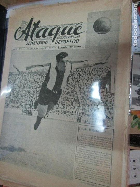 ATAQUE 1957 3 RAROS PERIODICOS ANTIGUOS FUTBOL HERCULES DE ALICANTE DEPORTIVO Nº 1 - 2- 7.- (Coleccionismo - Revistas y Periódicos Modernos (a partir de 1.940) - Otros)