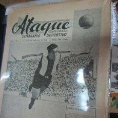 Coleccionismo de Revistas y Periódicos: ATAQUE 1957 3 RAROS PERIODICOS ANTIGUOS FUTBOL HERCULES DE ALICANTE DEPORTIVO Nº 1 - 2- 7.-. Lote 48632104